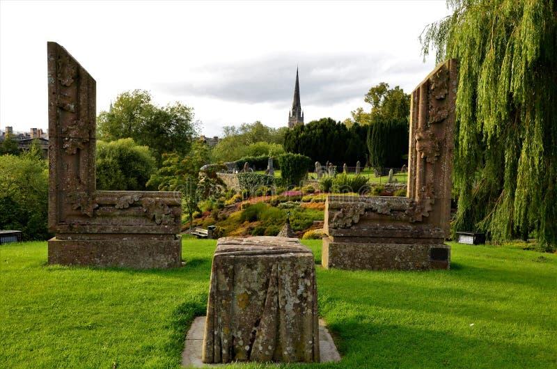 Τοπία της Σκωτίας - κήποι στο Περθ στοκ εικόνα