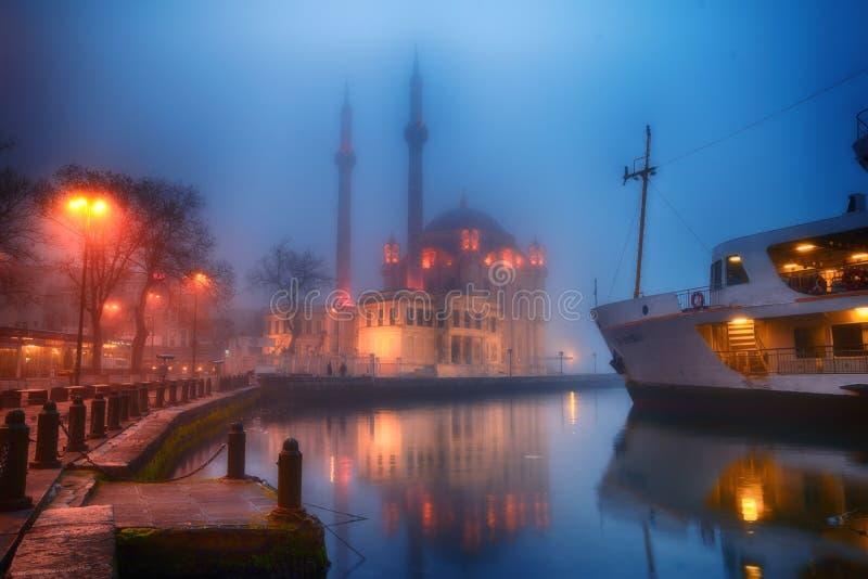 Τοπίο ομίχλης από Ortakoy Ιστανμπούλ στοκ εικόνες