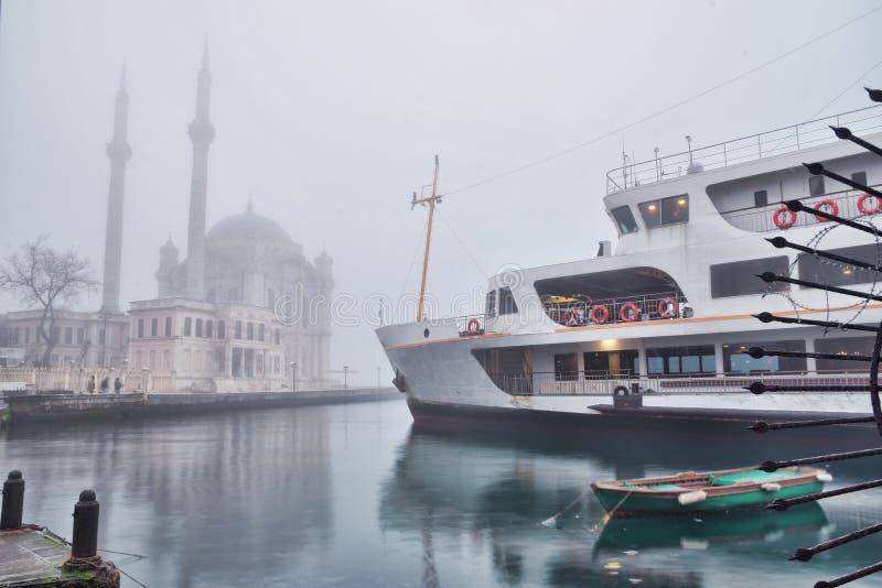 Τοπίο ομίχλης από Ortakoy Ιστανμπούλ στοκ φωτογραφία με δικαίωμα ελεύθερης χρήσης