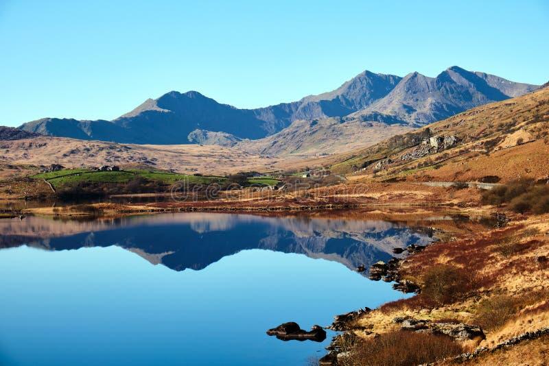 Τοποθετήστε τη λίμνη Snowdon και Llynnau στοκ φωτογραφία με δικαίωμα ελεύθερης χρήσης