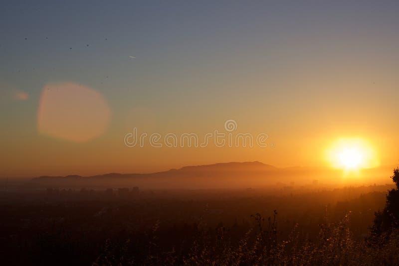 Τοποθετήστε Tam, πυροβολισμός ηλιοβασιλέματος Bay Area στοκ φωτογραφία με δικαίωμα ελεύθερης χρήσης