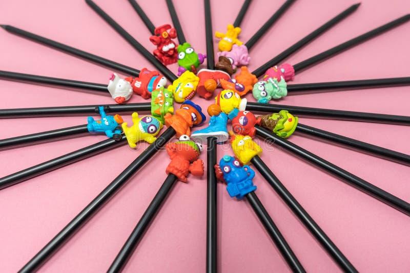 Τοπ γόμες μολυβιών στοκ φωτογραφία με δικαίωμα ελεύθερης χρήσης