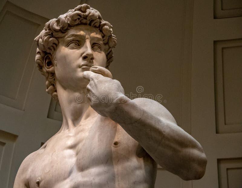 Το άγαλμα του Δαβίδ στο Accademia Galleria στοκ εικόνες με δικαίωμα ελεύθερης χρήσης