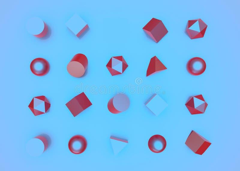 Το αφηρημένο καθορισμένο υπόβαθρο χρώματος γεωμετρίας τρισδιάστατο δίνει διανυσματική απεικόνιση