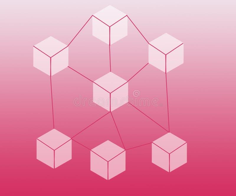 Το αφηρημένο υπόβαθρο σύνδεσε το δίκτυο φραγμών διανυσματική απεικόνιση