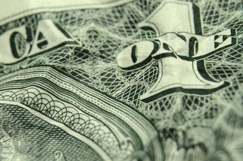 Το ΕΝΑ και 1 στην αντιστροφή ο λογαριασμός αμερικανικών δολαρίων στοκ φωτογραφίες με δικαίωμα ελεύθερης χρήσης