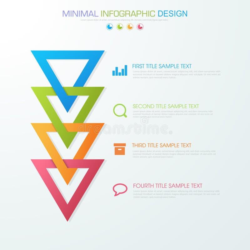 Το επιχειρησιακό infographic πρότυπο που η έννοια είναι βήμα επιλογής κύκλων με το πλήρες εικονίδιο χρώματος μπορεί να χρησιμοποι ελεύθερη απεικόνιση δικαιώματος