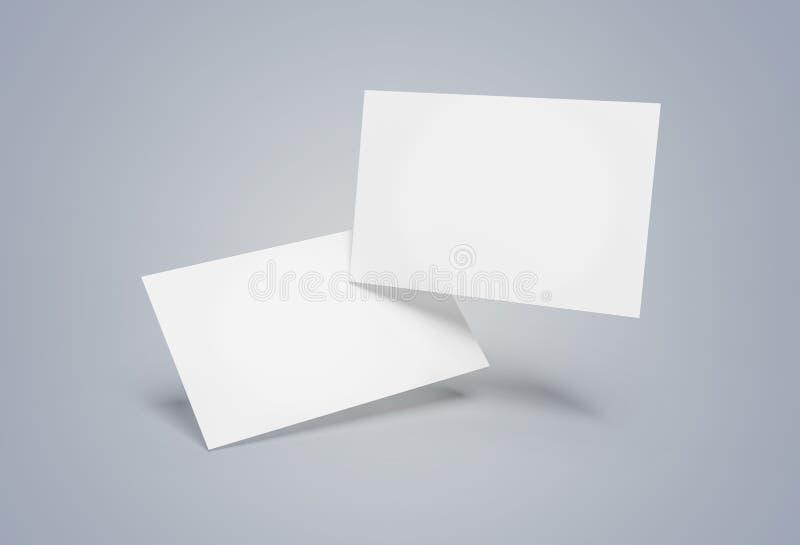 Το επιπλέον πρότυπο επαγγελματικών καρτών απομόνωσε την τρισδιάστατη απόδοση διανυσματική απεικόνιση