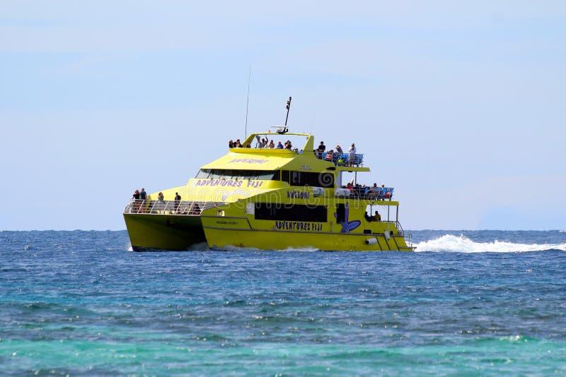 Το ιπτάμενο Yasawa συνδέει των περισσότερων από τα νησιά Yasawa, Φίτζι στοκ εικόνες
