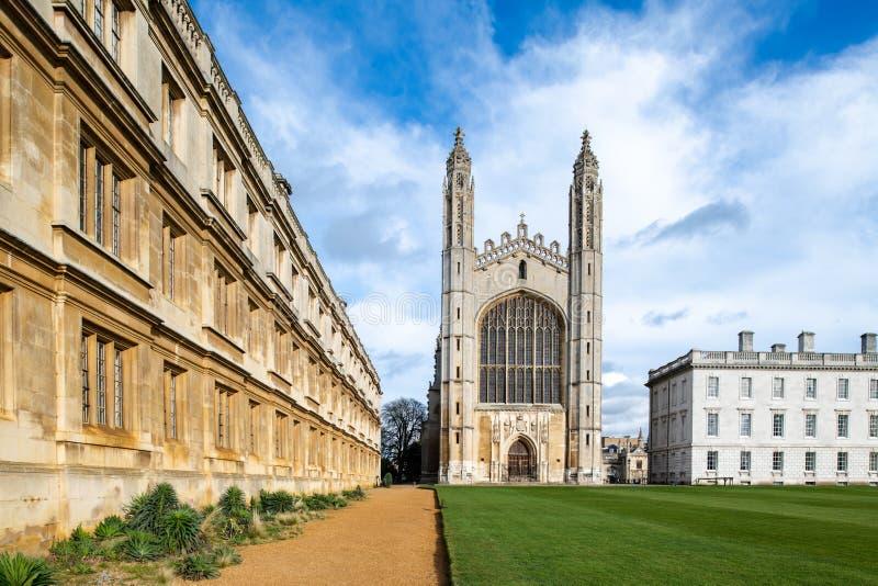 Το κολλέγιο του διάσημου βασιλιά στο Καίμπριτζ, UK στοκ φωτογραφίες με δικαίωμα ελεύθερης χρήσης