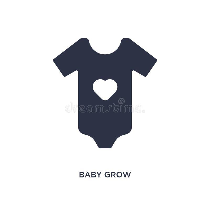 το μωρό αυξάνεται το εικονίδιο στο άσπρο υπόβαθρο Απλή απεικόνιση στοιχείων από την έννοια ενδυμάτων διανυσματική απεικόνιση