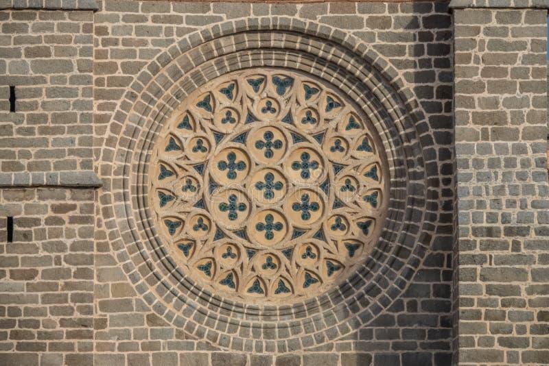 Το ναός-φρούριο Avila, Καστίλλη-Leon, Ισπανία Romanesque και γοτθικές μορφές Apse του froms ένας από τους πυργίσκους της πόλης στοκ φωτογραφία με δικαίωμα ελεύθερης χρήσης