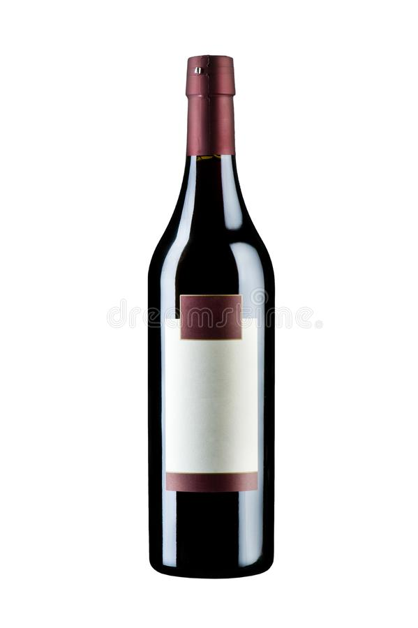 το οινοπνευματώδες ποτό μπουκαλιών ανασκόπησης απομόνωσε το άσπρο κρασί στοκ εικόνες με δικαίωμα ελεύθερης χρήσης