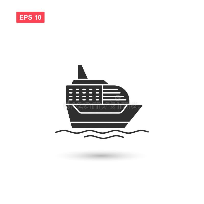 Το διάνυσμα εικονιδίων σκαφών της γραμμής κρουαζιέρας σκαφών απομόνωσε 8 διανυσματική απεικόνιση