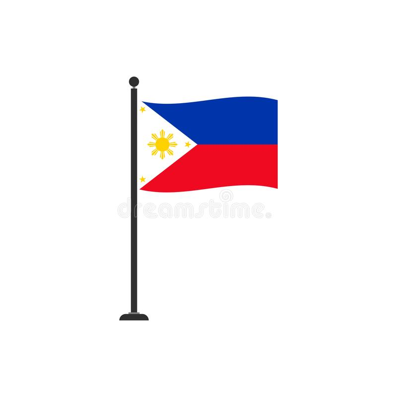 Το διάνυσμα σημαιών των Φιλιππινών απομόνωσε 4 ελεύθερη απεικόνιση δικαιώματος
