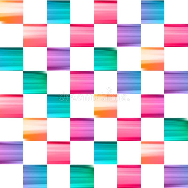 Το διανυσματικό χρώμα πασαλείβει το ελεγμένο σχέδιο ελεύθερη απεικόνιση δικαιώματος