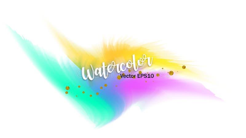 Το ράντισμα χρώματος στο έγγραφο E Δημιουργική απεικόνιση καλλιτεχνικό ελεύθερη απεικόνιση δικαιώματος