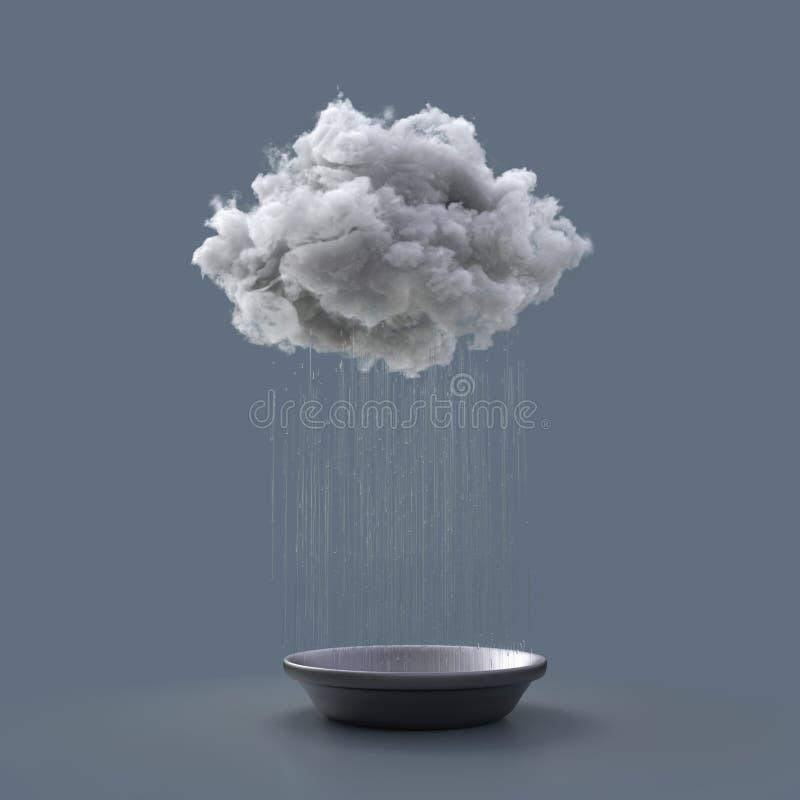 Το σύννεφο γεμίζει τη λεκάνη διανυσματική απεικόνιση