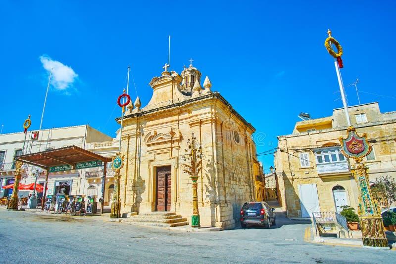 Το παρεκκλησι του ST Mery Cwerra, Siggiewi, Μάλτα στοκ φωτογραφία