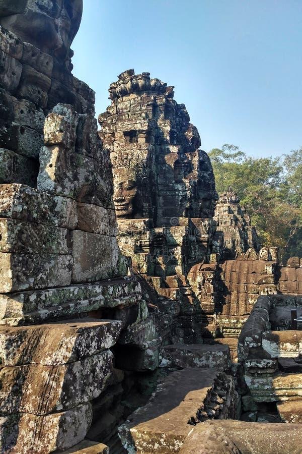 το angkor Καμπότζη καταστρέφει wat στοκ εικόνα