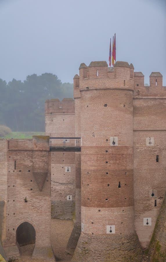 Το Castle του Λα Mota Castillo de Λα Mota, ένα μεσαιωνικό φρούριο, εντόπισε σε Medina del Campo, Βαγιαδολίδ, Καστίλλη-Leon, Ισπαν στοκ εικόνα