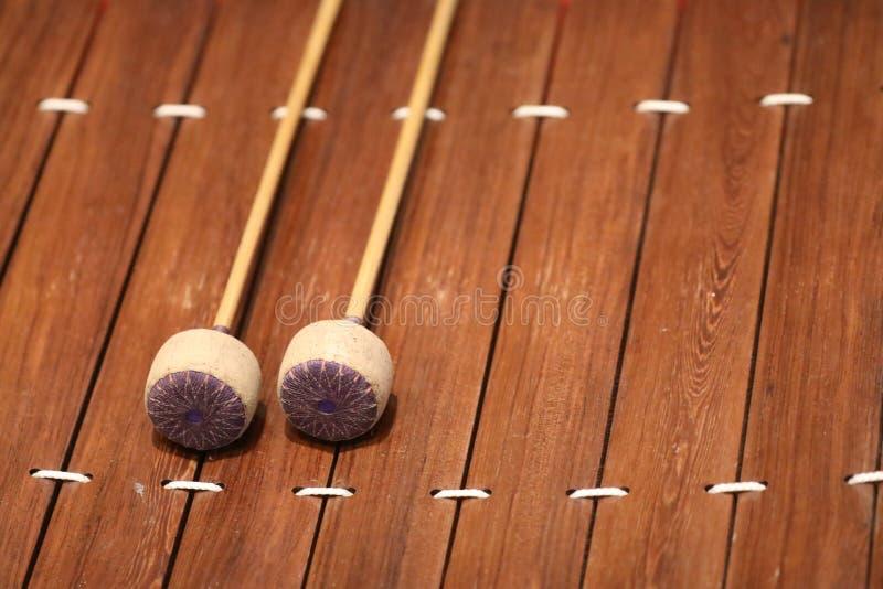 Το xylophone είναι ένα μουσικό όργανο στην οικογένεια κρούσης που αποτελείται από τους ξύλινους φραγμούς στοκ φωτογραφία