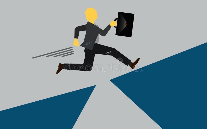 Τρέξιμο και πέρα από το χάσμα απεικόνιση αποθεμάτων