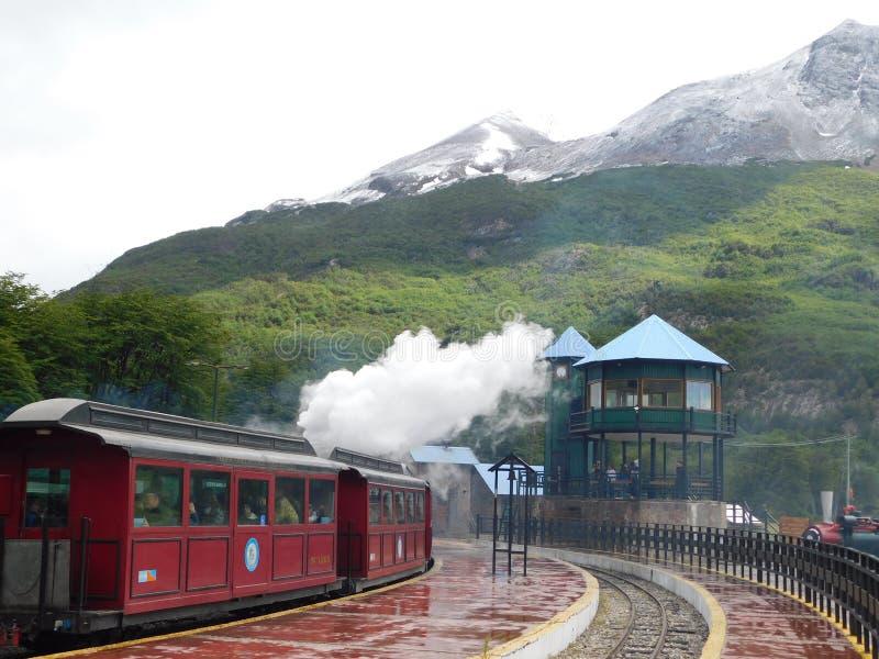 Τραίνο από το τέλος του κόσμου σε Ushuaia Αργεντινή στοκ εικόνες