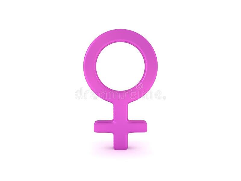 τρισδιάστατη απόδοση ενός θηλυκού συμβόλου γένους ελεύθερη απεικόνιση δικαιώματος