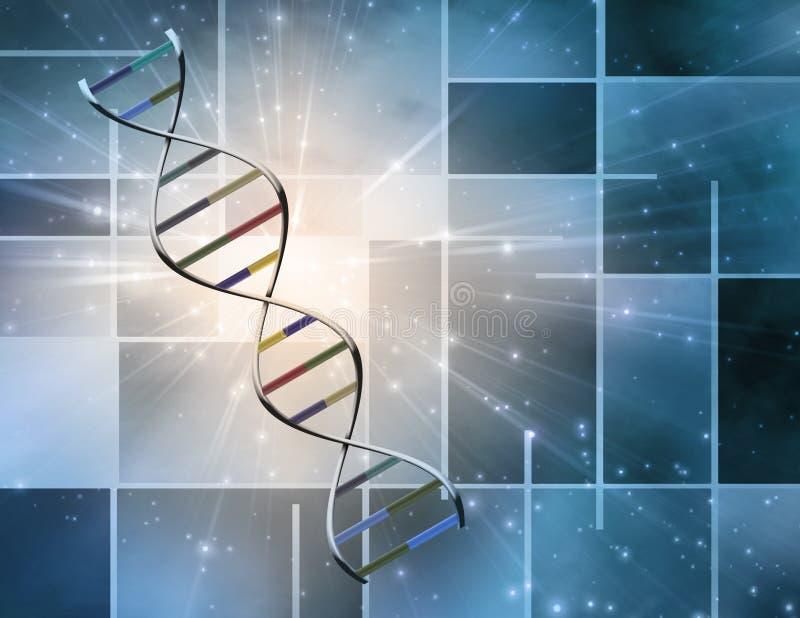 τρισδιάστατη εικόνα DNA που δίνεται το σκέλος ελεύθερη απεικόνιση δικαιώματος