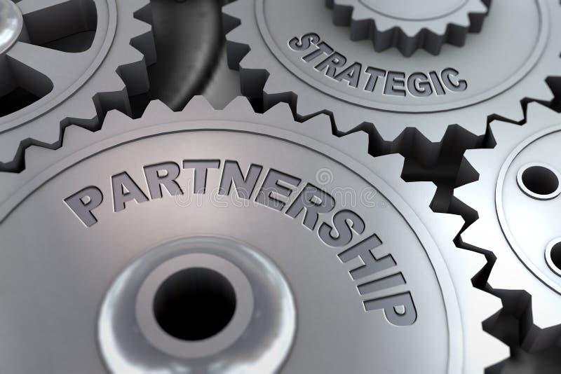 τρισδιάστατος δώστε cogwheel του εργαλείου τη στρατηγική συνεργασία ελεύθερη απεικόνιση δικαιώματος
