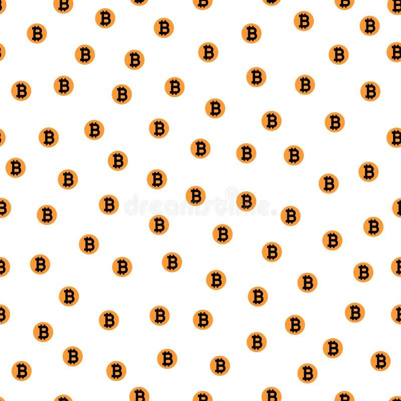 Τυχαία μειωμένη bitcoin άνευ ραφής διανυσματική απεικόνιση σχεδίων διανυσματική απεικόνιση
