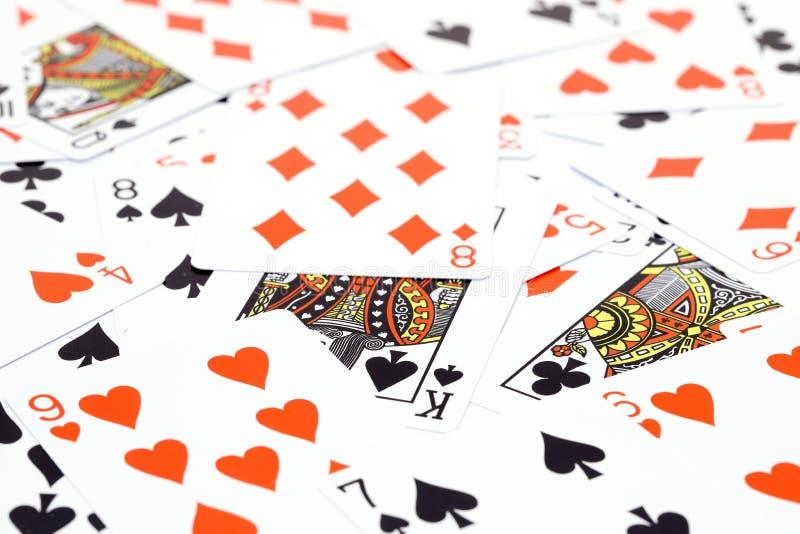Τυχαία παιχνίδια τ καρτών χαρτοπαικτικών λεσχών παιχνιδιού στοκ εικόνες