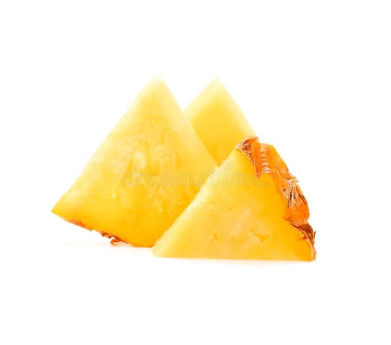 Φέτα του ανανά που απομονώνεται στο άσπρο υπόβαθρο στοκ εικόνες