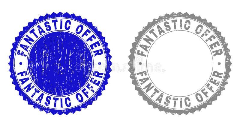ΦΑΝΤΑΣΤΙΚΕΣ γρατσουνισμένες ΠΡΟΣΦΟΡΑ σφραγίδες γραμματοσήμων Grunge ελεύθερη απεικόνιση δικαιώματος