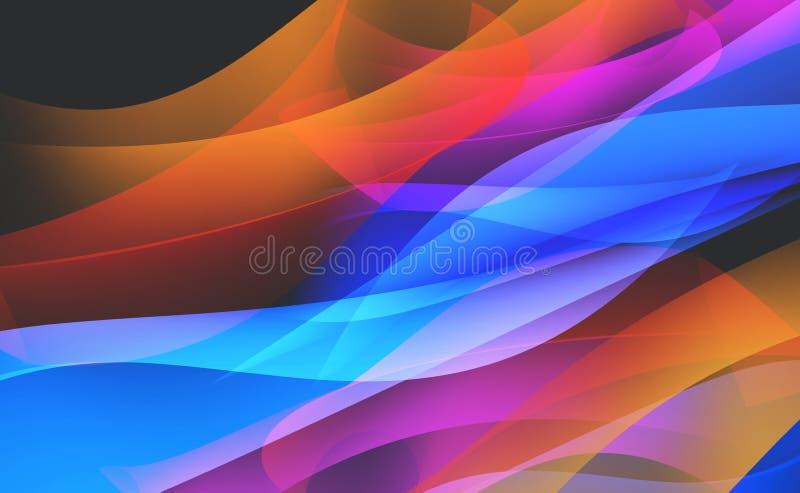 Φρέσκο ζωηρόχρωμο αφηρημένο υπόβαθρο Φλόγα και πάγος ελαφριά ύφανση απεικόνιση αποθεμάτων