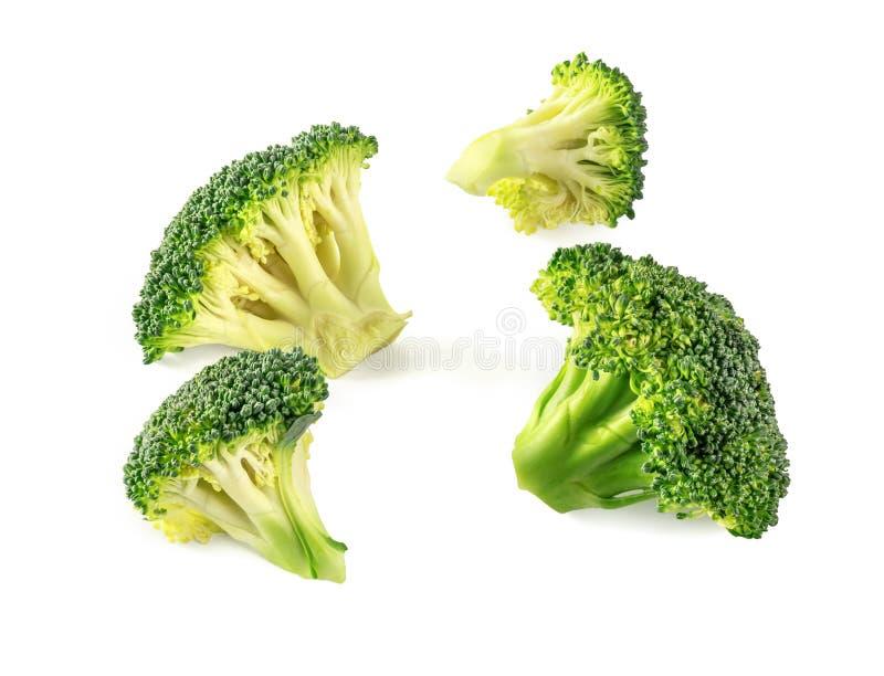 Φρέσκο πράσινο μπρόκολο που απομονώνεται στο άσπρο υπόβαθρο στοκ εικόνα