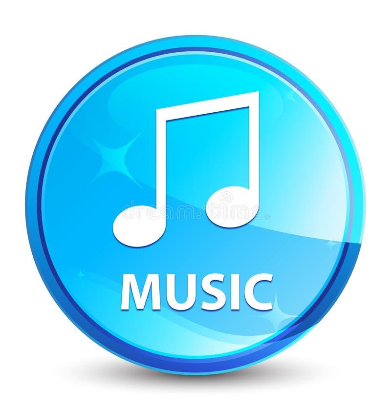 Φυσικό μπλε στρογγυλό κουμπί παφλασμών μουσικής (εικονίδιο τόνου) ελεύθερη απεικόνιση δικαιώματος