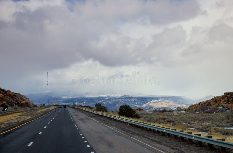Φυσικό τοπίο ερήμων εθνικών οδών ερήμων στην Αριζόνα στοκ εικόνα