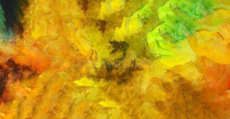 Φωτεινή ζωηρόχρωμη αφηρημένη ζωγραφική διανυσματική απεικόνιση