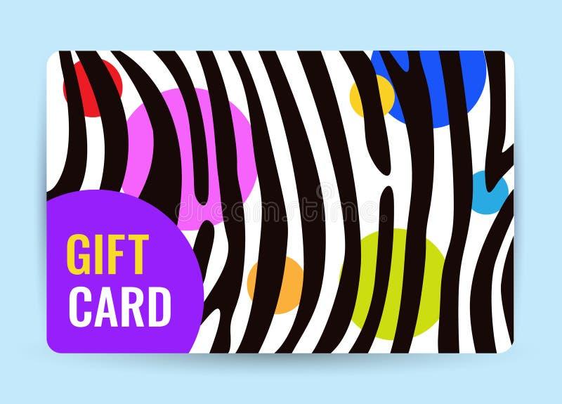 Φωτεινή κάρτα με τα γραπτούς λωρίδες και τον κύκλο χρώματος δημιουργικό δώρο καρτών απεικόνιση αποθεμάτων