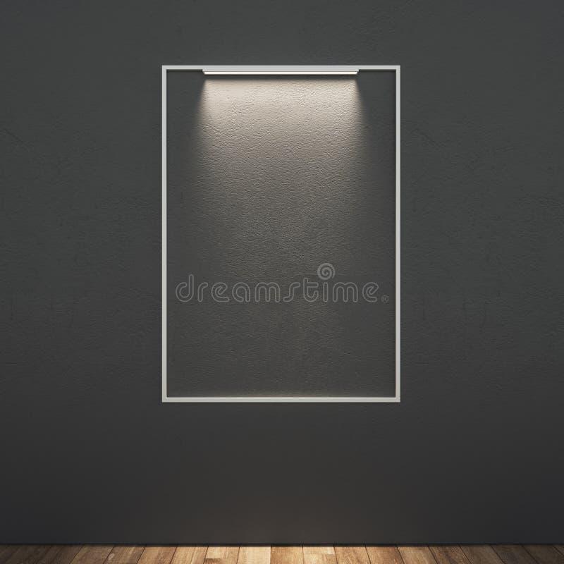 Φωτισμένος κενό πίνακας διαφημίσεων απεικόνιση αποθεμάτων