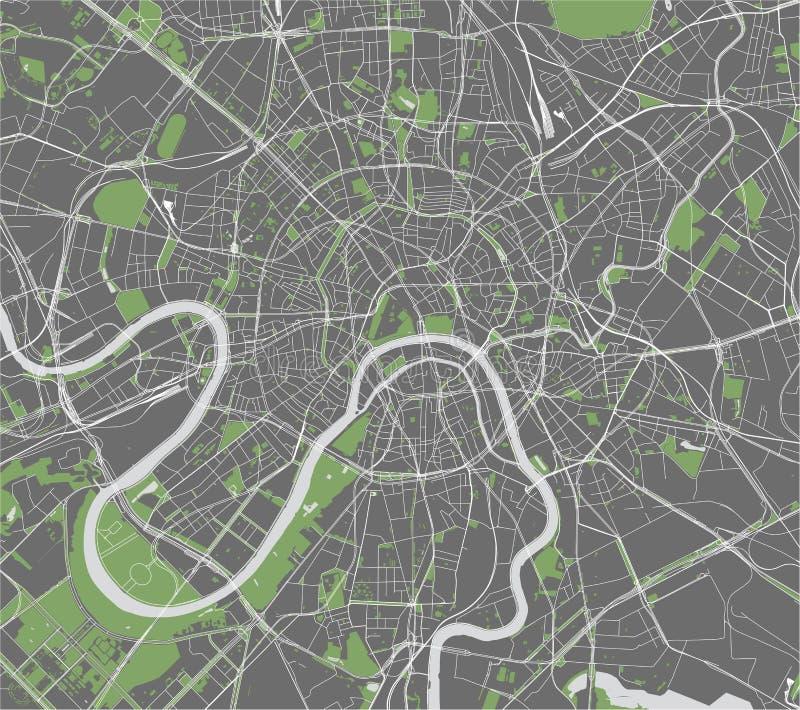 Χάρτης της πόλης της Μόσχας, Ρωσία ελεύθερη απεικόνιση δικαιώματος