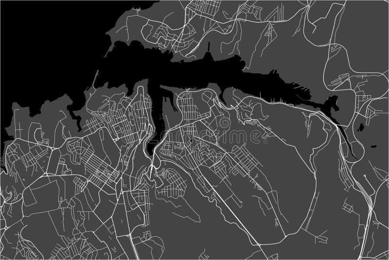 Χάρτης της πόλης της Σεβαστούπολης, Κριμαία ελεύθερη απεικόνιση δικαιώματος