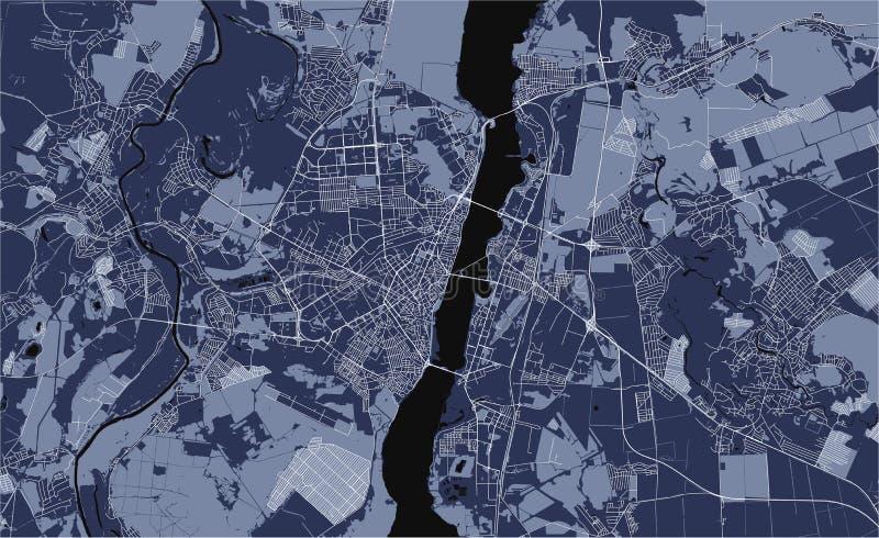 Χάρτης της πόλης Voronezh, Ρωσία διανυσματική απεικόνιση