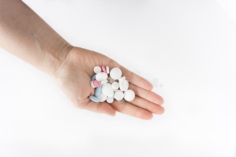 Χάπια σε ετοιμότητα στοκ φωτογραφίες