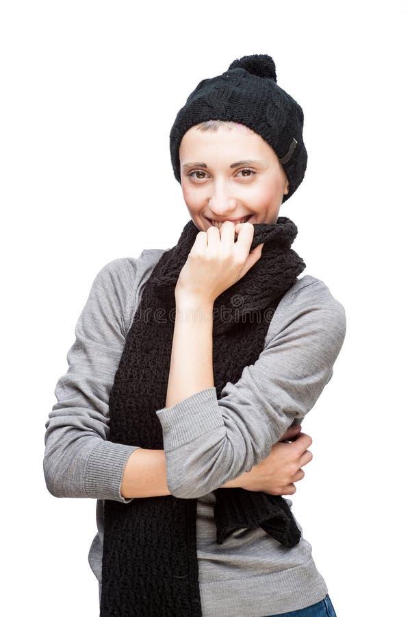 χαμογελώντας νεολαίες γυναικών πορτρέτου στοκ φωτογραφία
