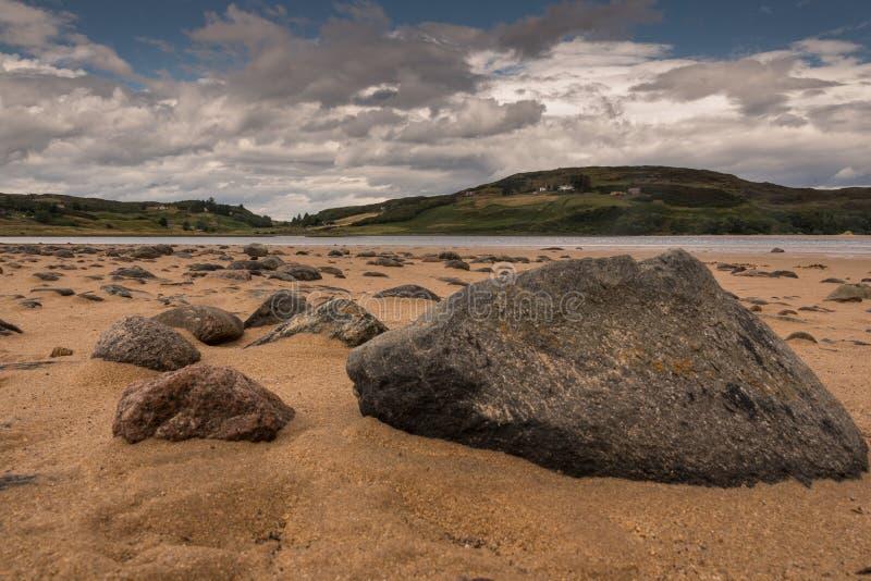 Χαρακτηριστικό, αγροτικό τοπίο στο σκωτσέζικο Χάιλαντς στοκ φωτογραφία