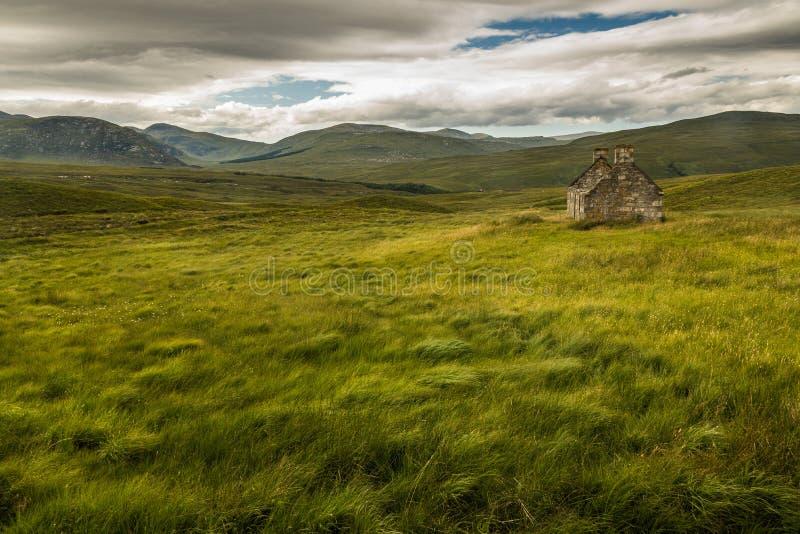 Χαρακτηριστικό, αγροτικό τοπίο στο σκωτσέζικο Χάιλαντς στοκ εικόνες