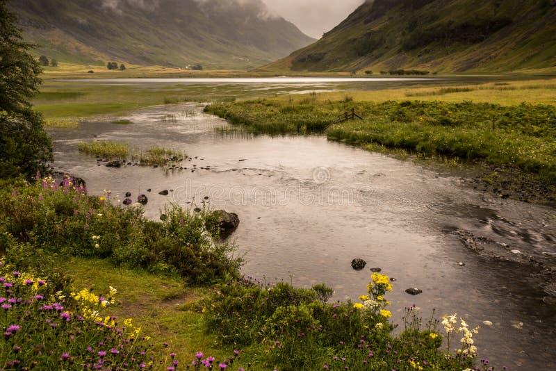 Χαρακτηριστικό landscapeof το νησί Mull, εσωτερικό Hebride στοκ φωτογραφία